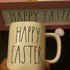 Pastel Pink Happy Easter Mug -Rae Dunn Magenta